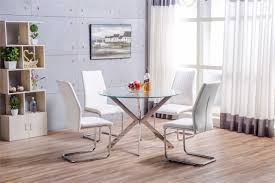 round white dining table. More Views. Venice Chrome Round Glass Dining Table And 4 White