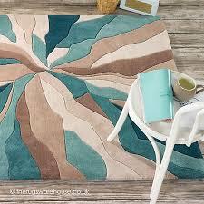 splinter teal rug