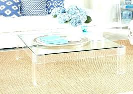 clear coffee table canada charming thick waterfall base transpa coffee table
