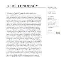 debs tendency