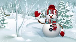 Holidays Snowman Snowman Waving Hand In The Stock Footage Video 100 Royalty Free