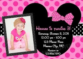 baby mickey mouse invitations birthday mouse pink polka dot photo invitation birthdays minnie mouse and