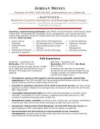 Waiter Bartender Sample Resume Resume Cocktail Waiter Bartender Mixologist Example Professional 14