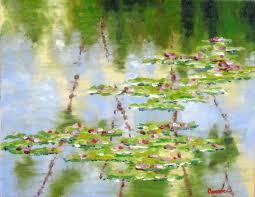 saatchi art artist sal panasci painting water lily pond art