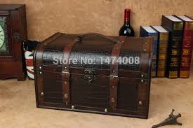 Large Wooden Boxes To Decorate Photography props fashion wooden decoration vintage box Crocodile 45