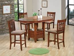 embled kitchen chairs 5 pc empire oak finish wood counter height oval dining table set