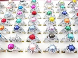<b>30Pcs Wholesale</b> Mixed Lots <b>Vintage</b> Artificial Pearl Rings Jewelry ...