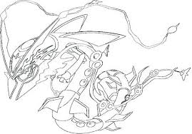 28 Collection Of Legendary Pokemon Coloring Pages Mega Rayquaza