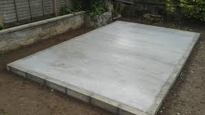 how to build a concrete shed base a diy guide to laying a garden shed base diy doctor