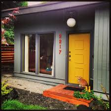 mid century modern front porch. Midcentury Modern · Atomic Ranch ( Grey House Coloured Door) Mid Century Front Porch A