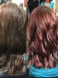 Rose Gold Hair Color On Previously