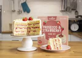 Strawberry And Prosecco Cake Kit Recipe And Cake Mix Bakedin