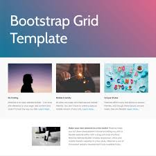bootstrap 4 grid template