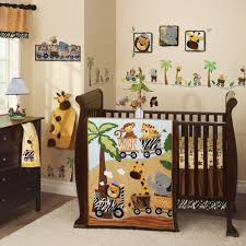 lambs ivy safari express 9 piece crib bedding set blue brown