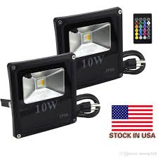 Laser Flood Light Remote Control 10w Rgbw Led Flood Lights Color Changing Led Security Lights Rgb And Warm White Waterproof Led Floodlight Stock In Us