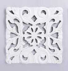 cuadro panel madera tallado cuadrado