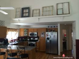 unique way to decorate vaulted ceilings