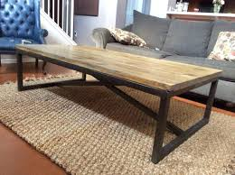 wooden metal table end