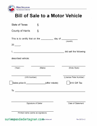 Simple Vehicle Bill Of Sale Template Bill Of Salemplate Pdf Best Sample New Motor Vehicle Form Fillable