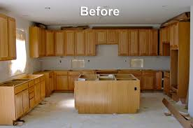 image of painting oak kitchen cabinets before and after