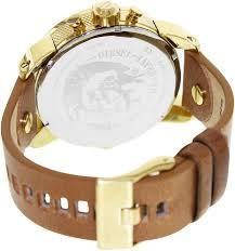watches men gold diesel dz7288 little daddy white gold brown diesel gold mens watches