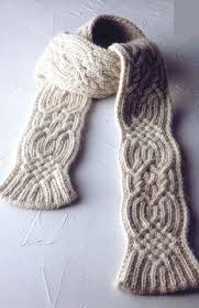Knitted Scarf Patterns Classy Warm Cable Knitted Scarf Pattern Knitting Free