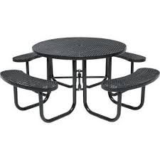 park 46 in brown commercial round picnic table