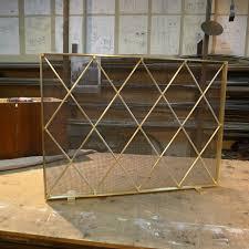 mid century modern fireplace screen midcentury