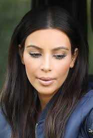 photo kim kardashian s heavy makeup did she go too far with her look hollywood life