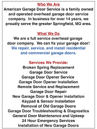 garage door troubleshootingAmerican Garage Door Service  Home  Facebook