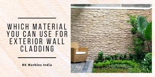 for exterior wall cladding