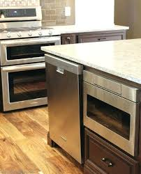 Can Countertop Microwave Be Built In And You Put A Drawer  Island Cabinet Stainless Steel To Frame Awesome  Microwave Drawer In Island N34