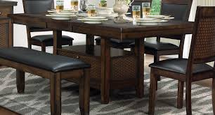 Dining Table With Storage Homelegance Wickham Dining Table With Storage Burnished Dark