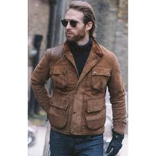 street style craig mcginlay brown leather jacket
