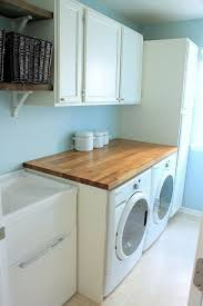 counter over washer and dryer ikea.  Ikea Laundry Room Butcher Block Countertops Salvaged Cabinets In Benjamin  Moore Cloud Cover Open Shelves Utility Sink Tanner Projects With Counter Over Washer And Dryer Ikea A