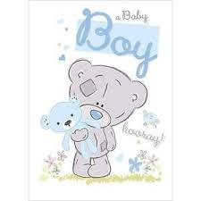 Congratulations On Your Baby Boy Me To You New Born Baby Boy Birth Congratulations Greeting Card Ebay