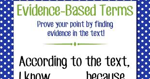Text Based Evidence Anchor Chart Magic Markers Evidence Based Terms