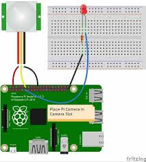 iot based raspberry pi home security system with email alert using 3 wire security camera at Security Camera Module Wiring Schematic