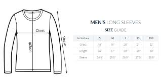 Round Neck T Shirt Size Chart Full Sleeve Men Round Neck T Shirt