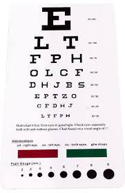 Pupil Size Chart Printable Allheart Snellen Pocket Eye Chart