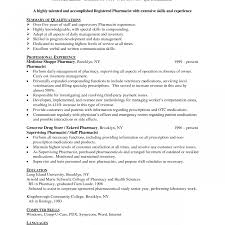 Amazing Resume For Pharmacist Intern Crest Documentation Template