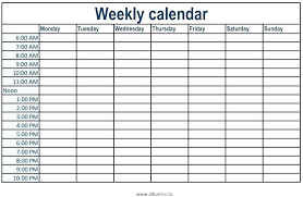 Weekly Calendar With Times Template Weekly Calendar With Times Template Flaky Me
