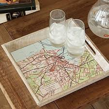 Great Custom Map Serving Tray