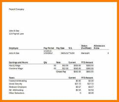 paycheck stub creator 5 pay stub creator excel pay stub format