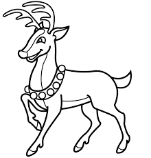 Small Picture Reindeer coloring pages wearing necklace ColoringStar