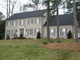 exterior colonial house design. Stylish Exterior House Design In Grey Paint Color With Best Painted Brick  Exterior Colonial House Design A