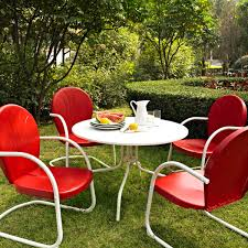 commercial outdoor dining furniture. Crosley Griffith Outdoor Metal Five Piece Set - 40\ Commercial Dining Furniture