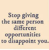 Stop Giving The Same Person Different Opportunities To