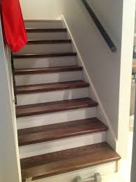 carpet laminate stairs. from carpet to wood stairs redo cheater version, diy, how to, laminate