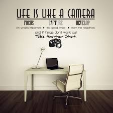 cool wall stickers home office wall. Unique Creative Removable Life Is Like A Camera Quote Wall Stickers Home Decals Office Decoration-in From \u0026 Garden On Aliexpress.com Cool